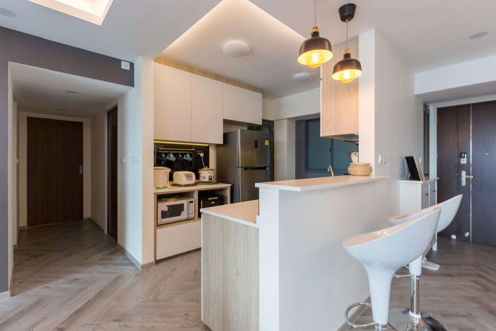 Contemporary, HDB, Kitchen, Cantonment Road, Interior Designer, GB Interior Design