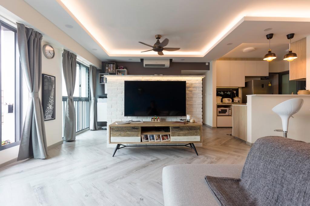 Contemporary, HDB, Living Room, Cantonment Road, Interior Designer, GB Interior Design
