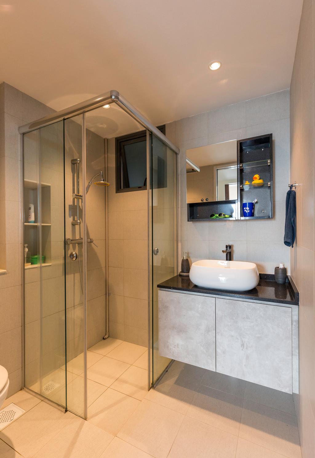 Contemporary, HDB, Bathroom, Cantonment Road, Interior Designer, GB Interior Design