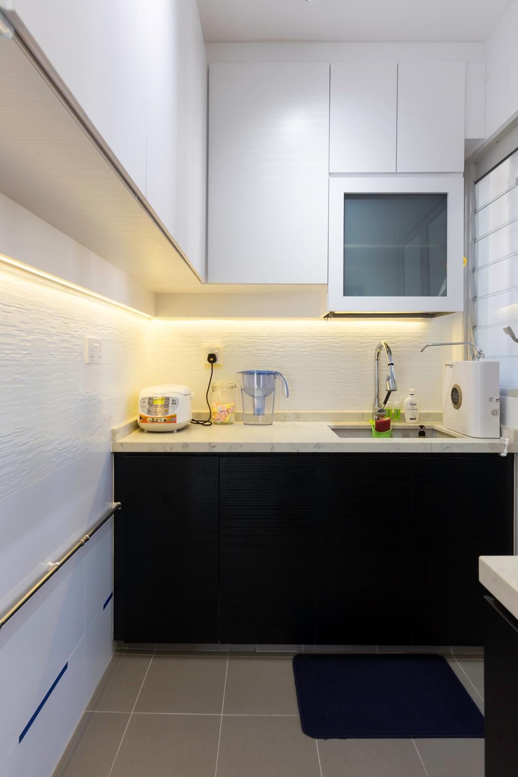 Contemporary, HDB, Kitchen, Sumang Walk, Interior Designer, Tab Gallery