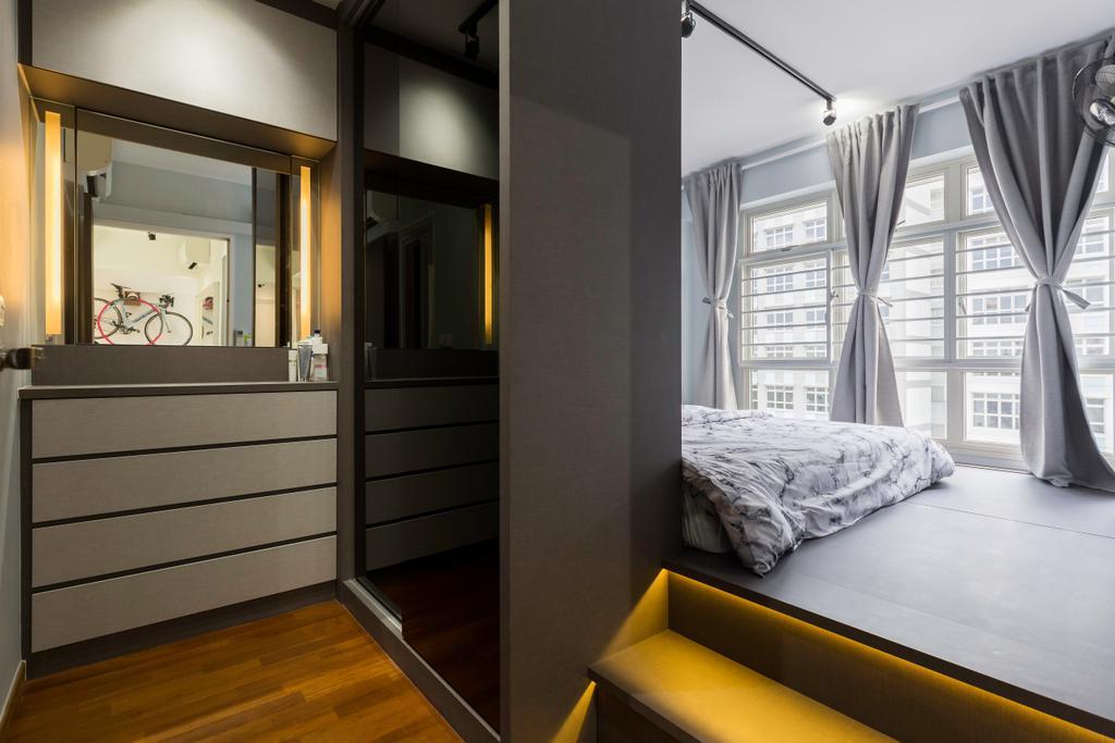 Contemporary, HDB, Bedroom, Sumang Walk, Interior Designer, Tab Gallery