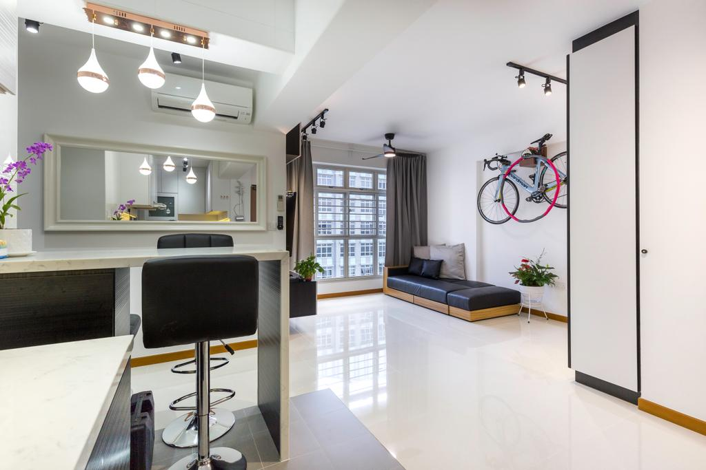 Contemporary, HDB, Living Room, Sumang Walk, Interior Designer, Tab Gallery