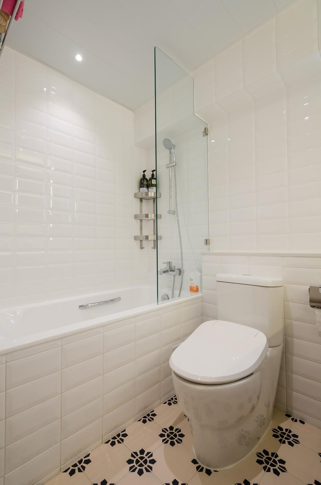 簡約, 私家樓, 浴室, 海棠閣, 室內設計師, 現時設計, 摩登, 北歐