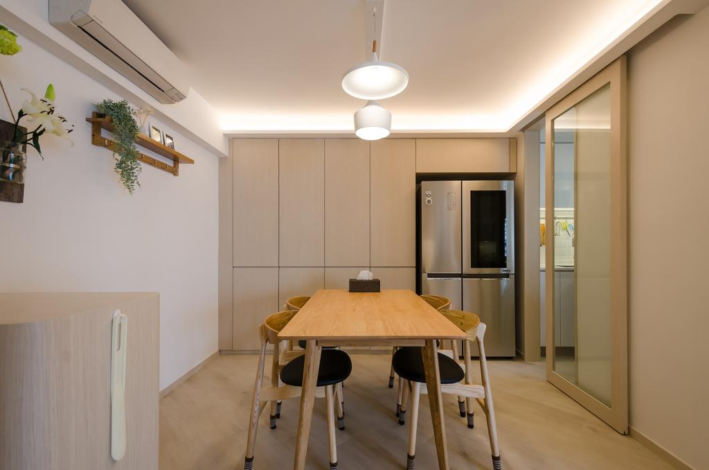 簡約, 私家樓, 飯廳, 海棠閣, 室內設計師, 現時設計, 摩登, 北歐
