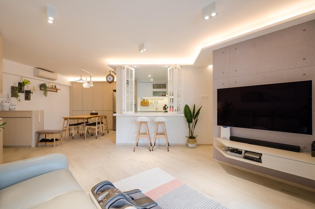 簡約, 私家樓, 客廳, 海棠閣, 室內設計師, 現時設計, 摩登, 北歐