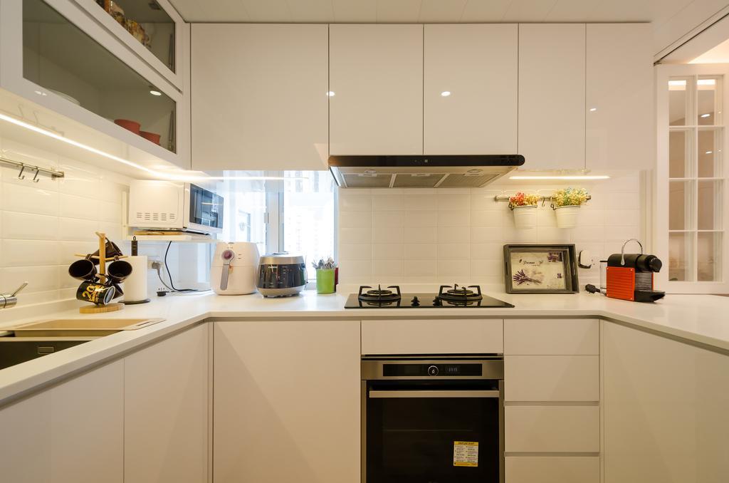 簡約, 私家樓, 廚房, 海棠閣, 室內設計師, 現時設計, 摩登, 北歐