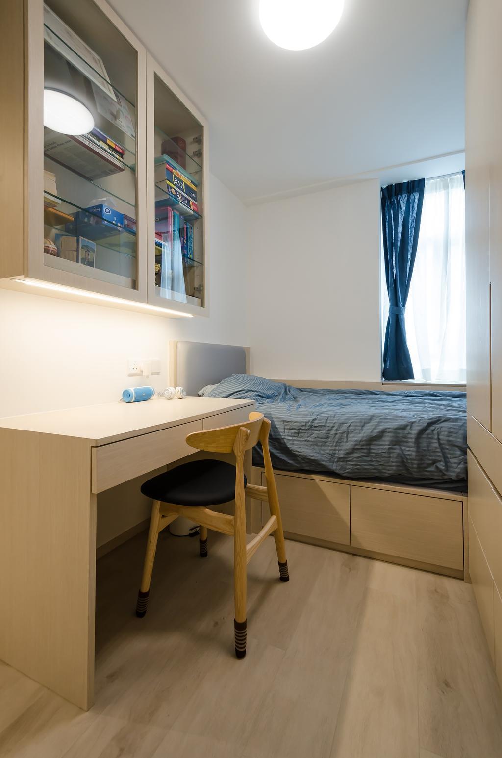 簡約, 私家樓, 睡房, 海棠閣, 室內設計師, 現時設計, 摩登, 北歐