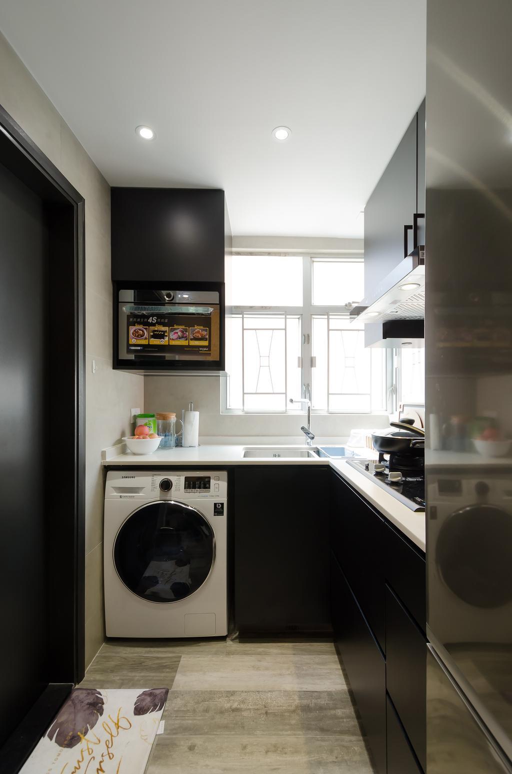 摩登, 私家樓, 廚房, 順興大廈-2, 室內設計師, 現時設計