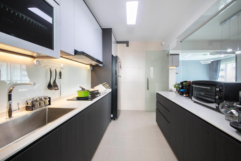 Modern, HDB, Kitchen, Yishun Avenue 6, Interior Designer, Starry Homestead, Contemporary