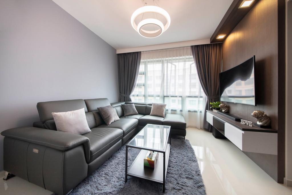 Modern, HDB, Living Room, Yishun Avenue 6, Interior Designer, Starry Homestead, Contemporary