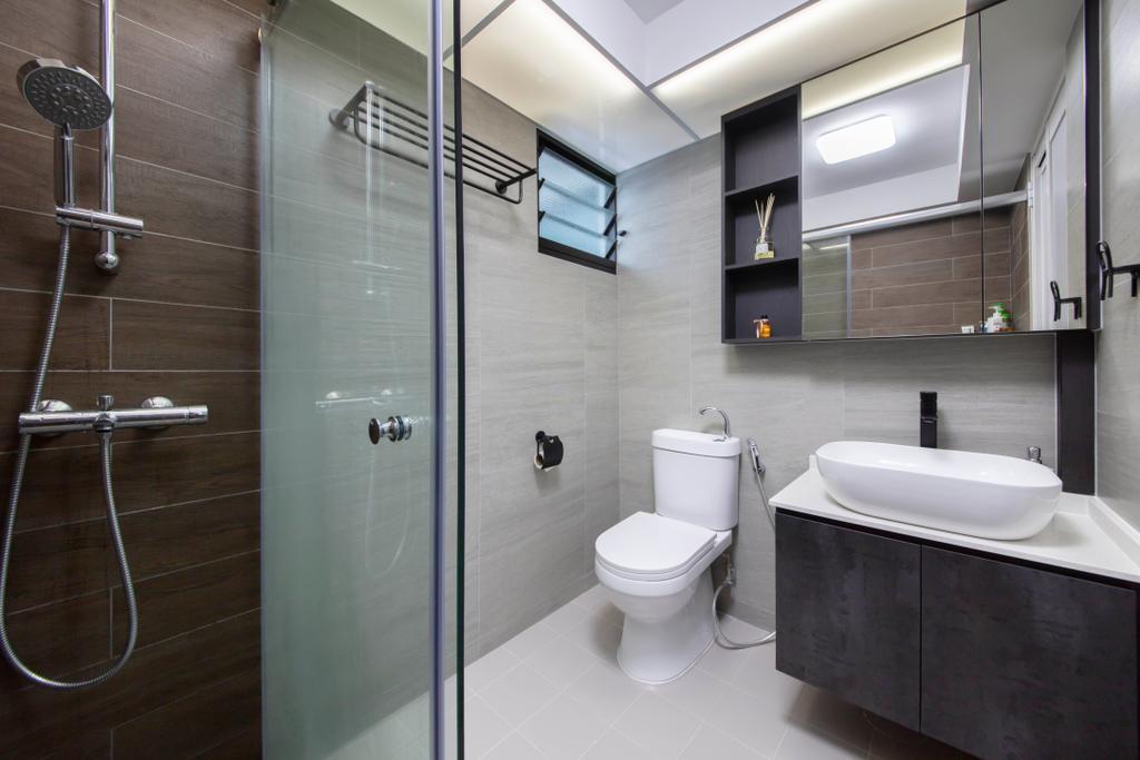 Modern, HDB, Bathroom, Yishun Avenue 6, Interior Designer, Starry Homestead, Contemporary