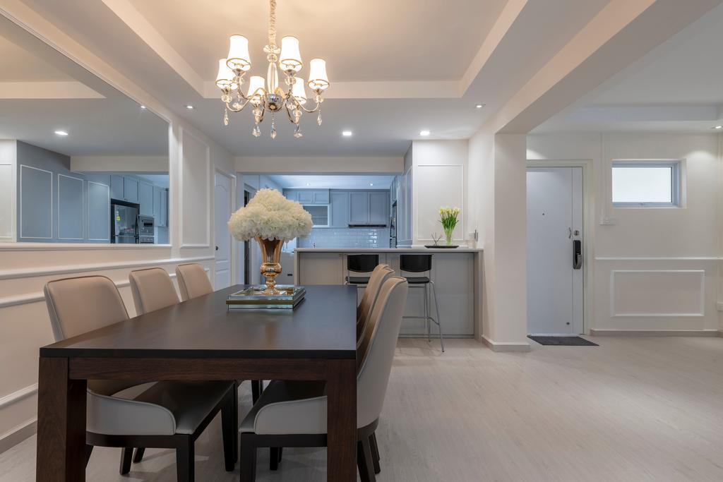 Contemporary, HDB, Dining Room, Pasir Ris Street 51, Interior Designer, Fifth Avenue Interior