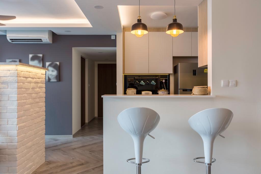 Contemporary, HDB, Dining Room, Cantonment Road, Interior Designer, GB Interior Design