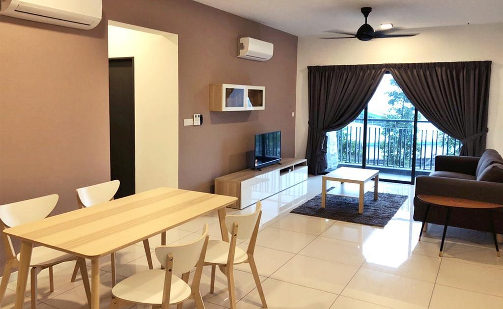 Minimalist, Condo, Living Room, Emira Residence, Shah Alam, Interior Designer, DesignLah