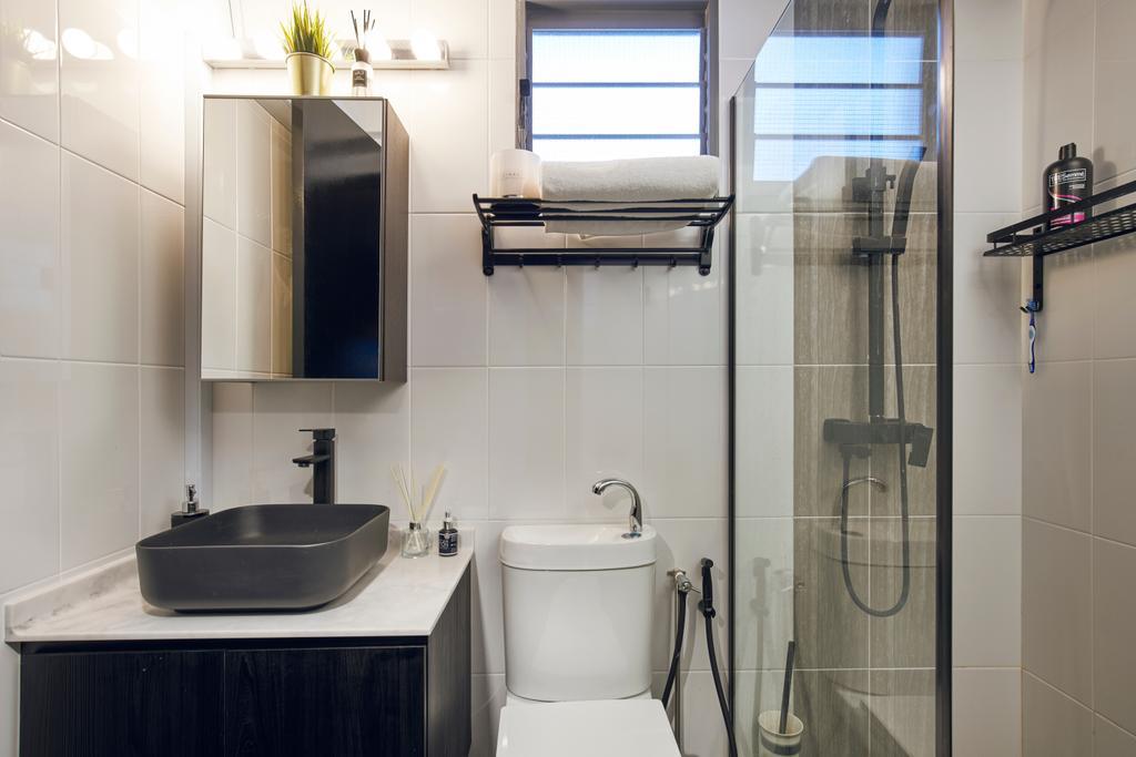 Contemporary, HDB, Bathroom, Punggol East, Interior Designer, Renolux Interior