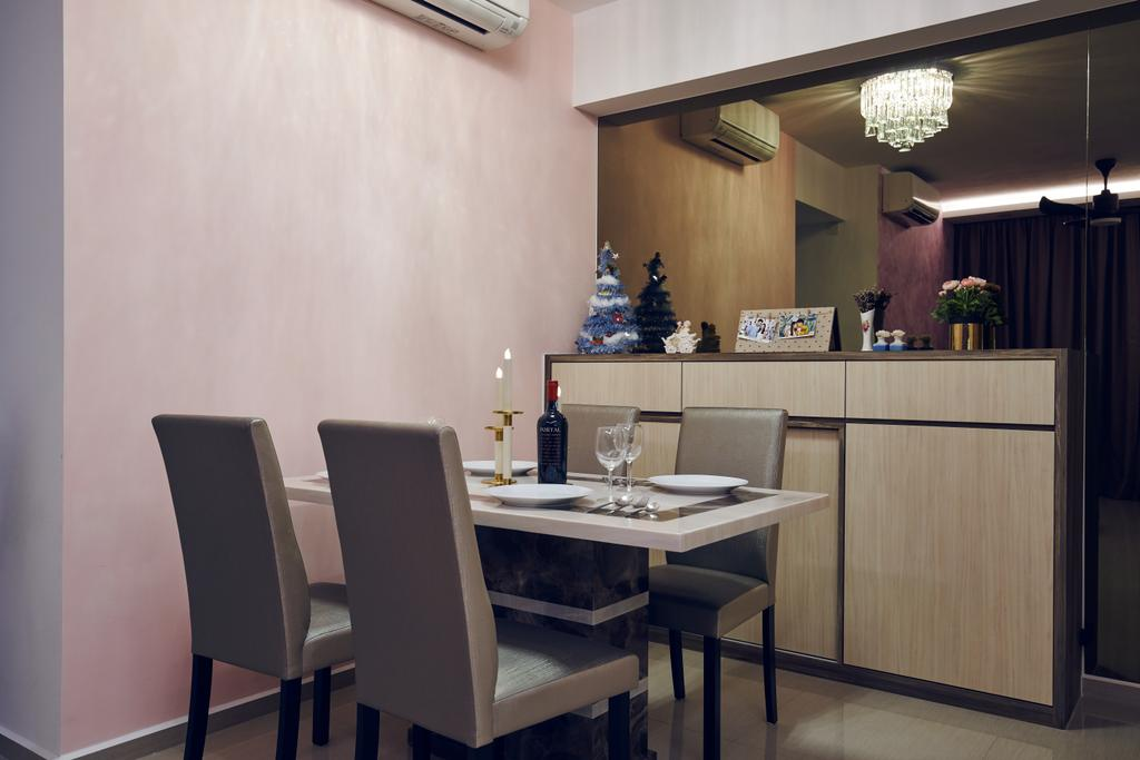 Contemporary, Condo, Dining Room, Parc Life, Interior Designer, Renolux Interior