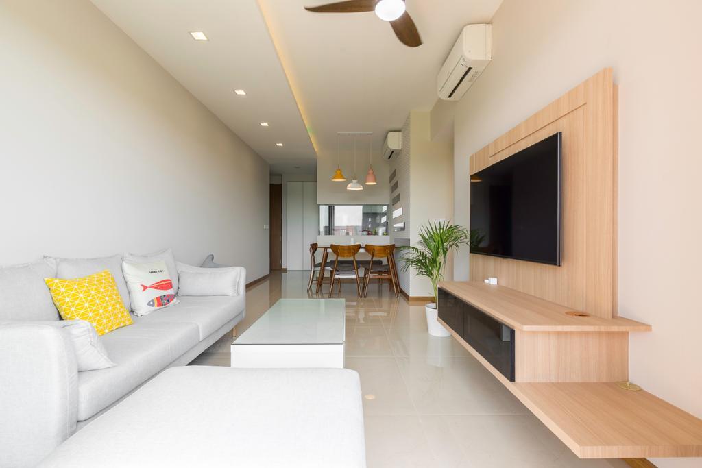 Contemporary, Condo, Living Room, Upper Serangoon View, Interior Designer, Design Story