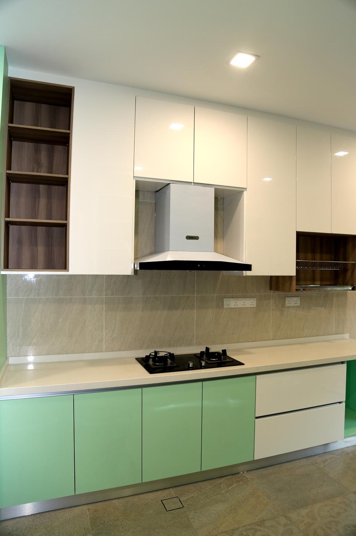 Modern, Landed, Kitchen, USJ Height, Subang Jaya, Interior Designer, Lequen Construction And Renovation Group, Minimalist, Contemporary