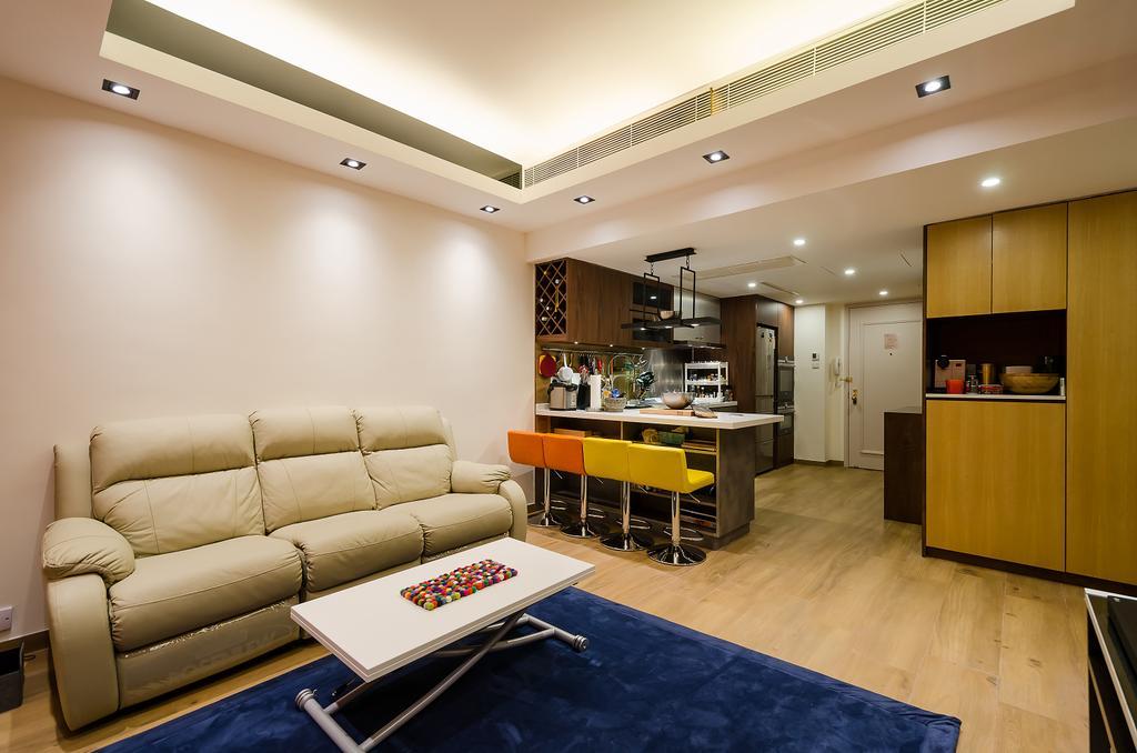 私家樓, 客廳, 會景閣, 室內設計師, 現時設計