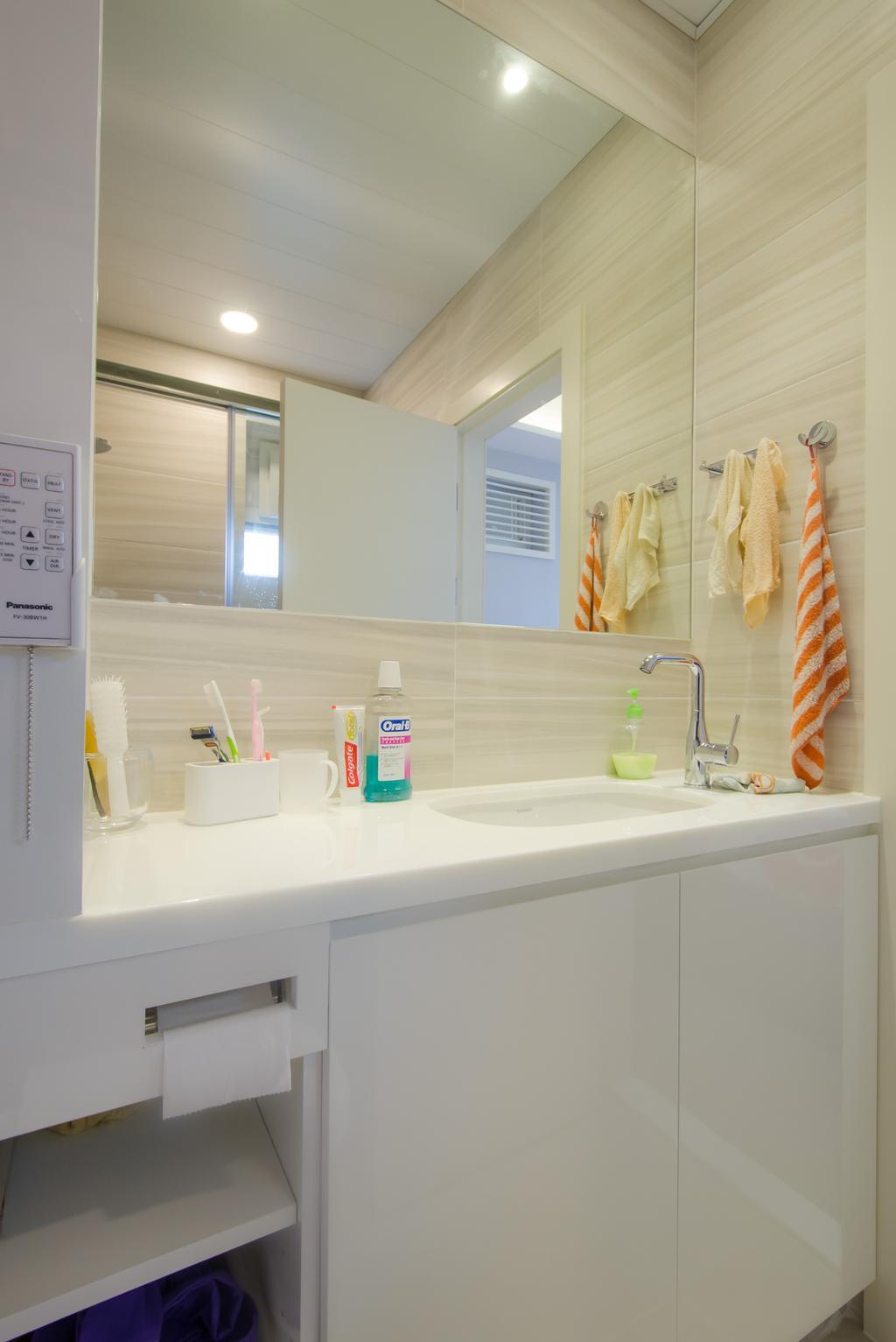 簡約, 私家樓, 浴室, 珊瑚閣, 室內設計師, 現時設計