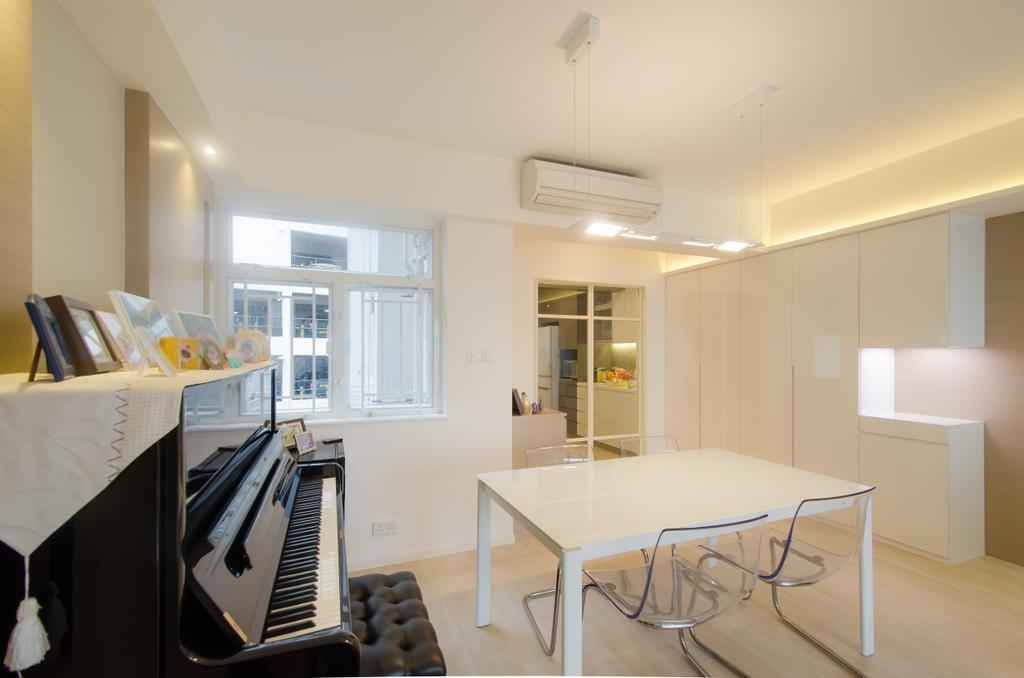 簡約, 私家樓, 飯廳, 珊瑚閣, 室內設計師, 現時設計