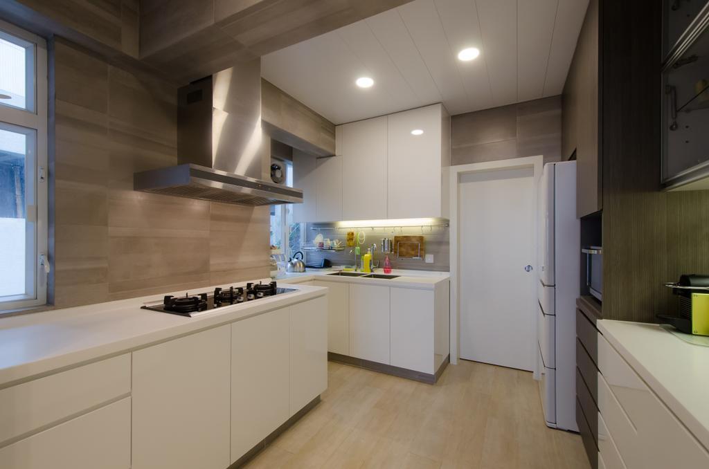 簡約, 私家樓, 廚房, 珊瑚閣, 室內設計師, 現時設計