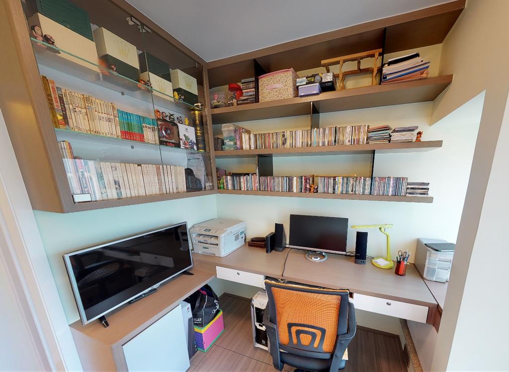 私家樓, 書房, 名城, 室內設計師, Shine Interior Design