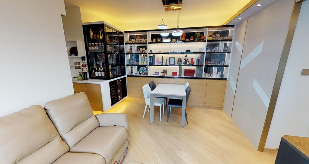 私家樓, 客廳, 名城, 室內設計師, Shine Interior Design