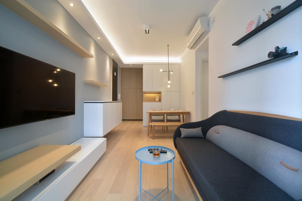 私家樓, 客廳, Monterey, 室內設計師, Space Design