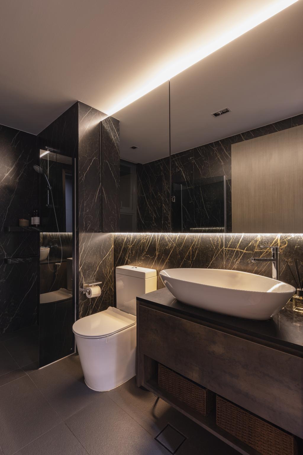 Modern, Condo, Bathroom, Bellewaters, Interior Designer, Voila, Contemporary