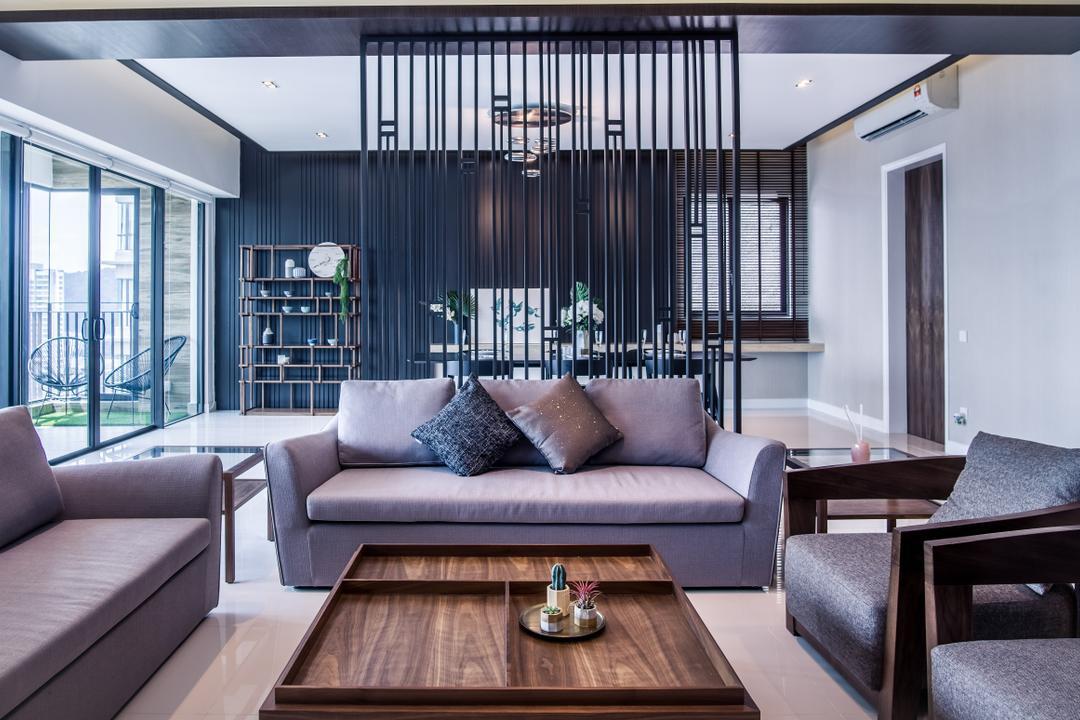 Residensi 22, Mont Kiara Living Room Interior Design 2