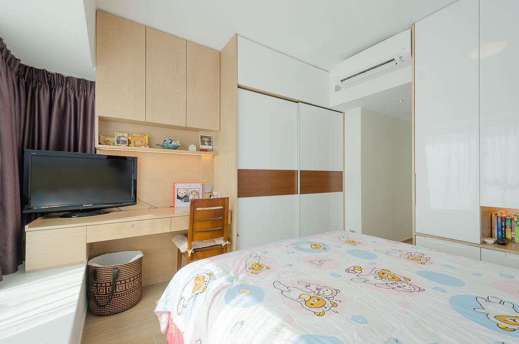 簡約, 私家樓, 睡房, 維港灣 C 室, 室內設計師, 現時設計