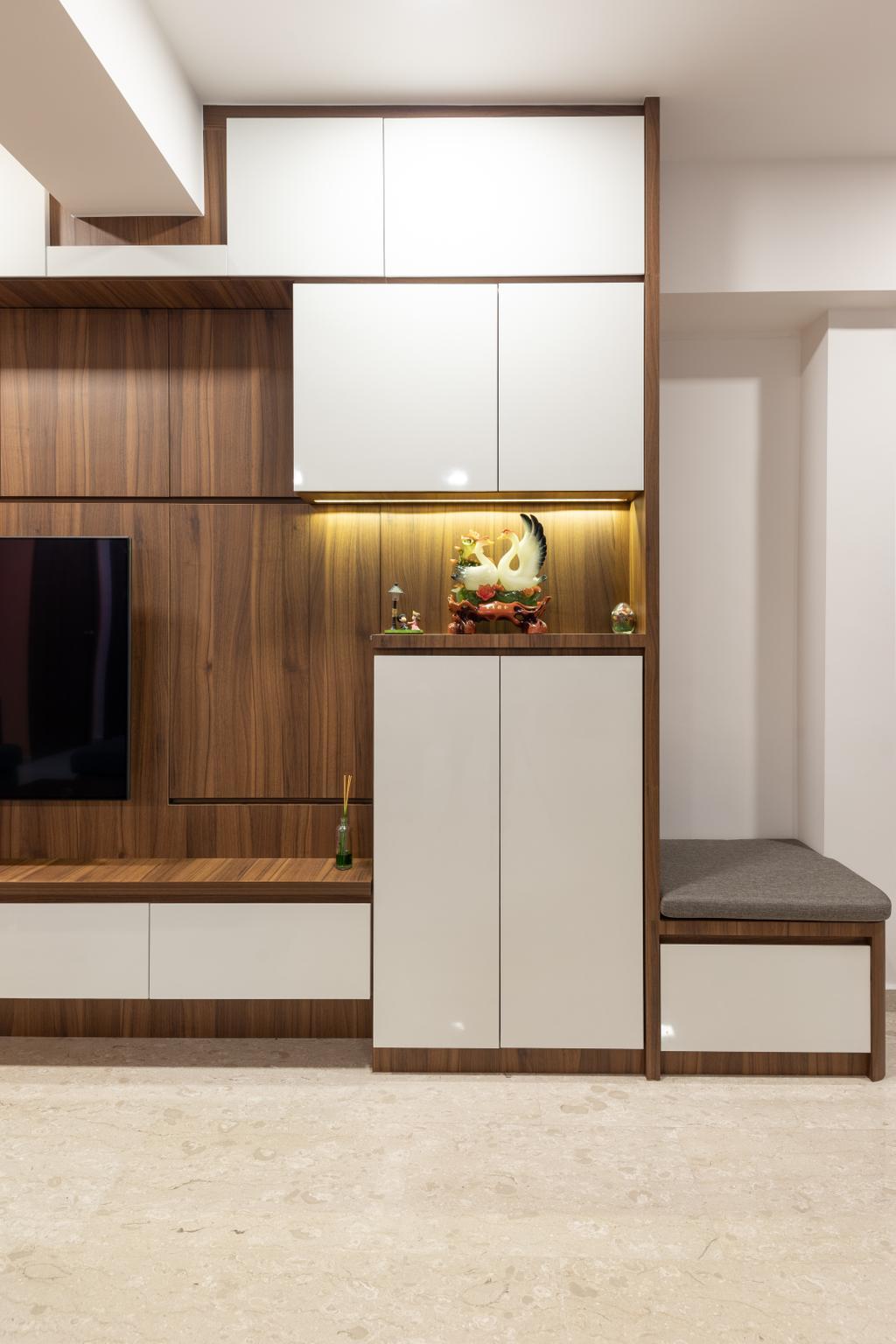 Contemporary, HDB, Living Room, Bukit Merah View, Interior Designer, Azcendant
