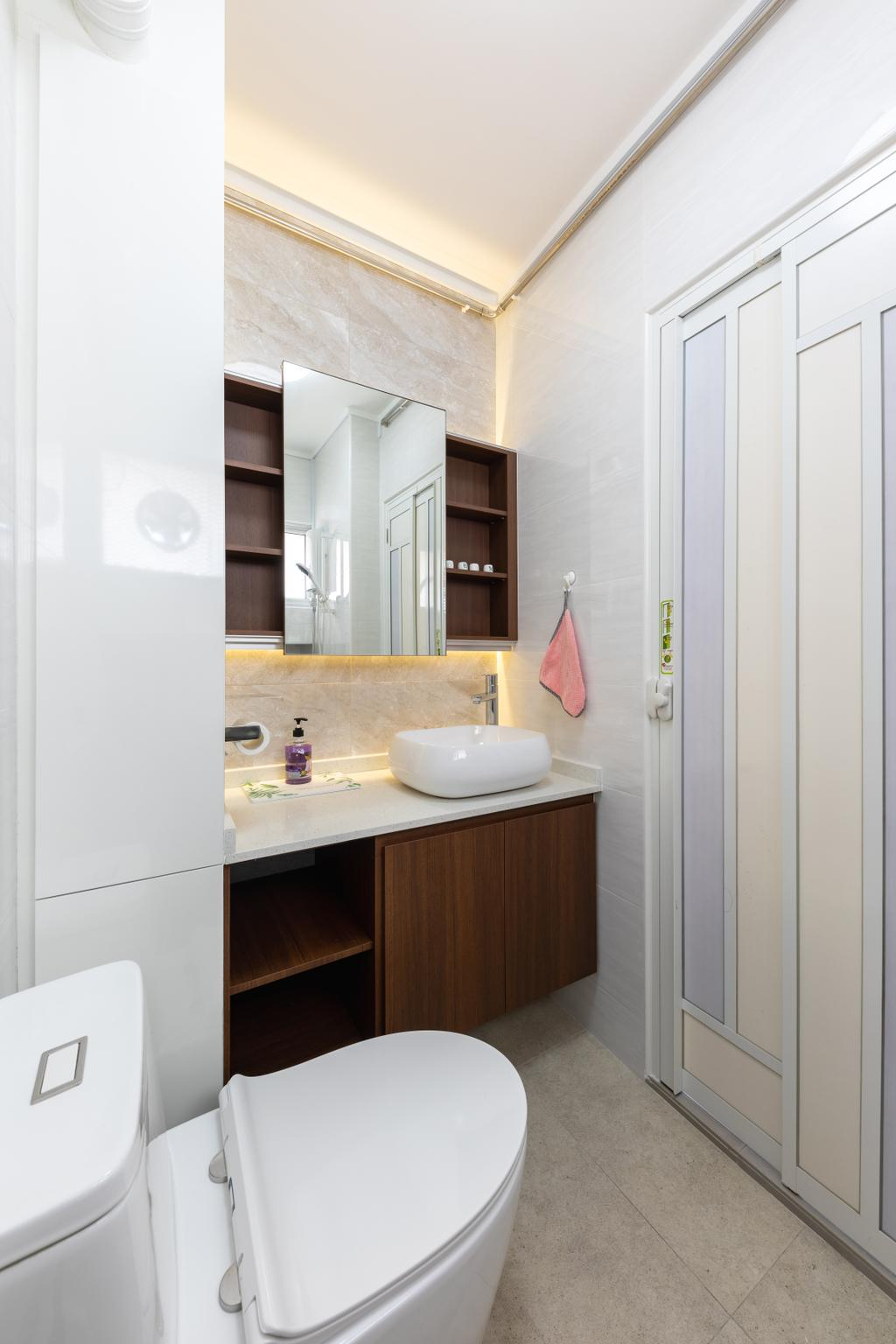 Contemporary, HDB, Bathroom, Bukit Merah View, Interior Designer, Azcendant