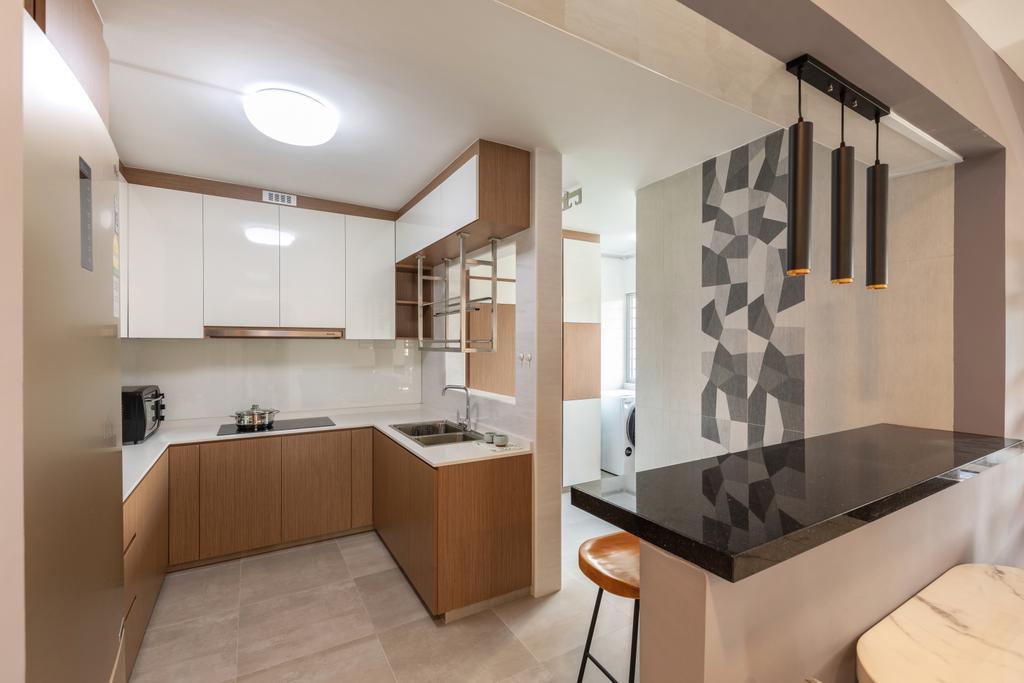 Contemporary, HDB, Kitchen, Bukit Merah View, Interior Designer, Azcendant