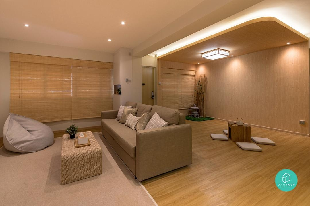 extra space in living room