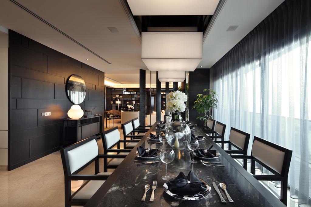 Contemporary, Condo, Dining Room, Soleil @ Sinaran, Interior Designer, Haireliving, Transitional