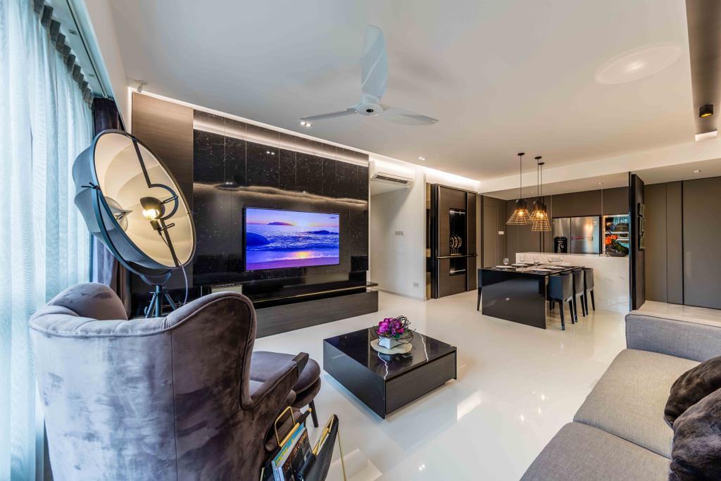 Contemporary, Condo, Living Room, The Florida, Interior Designer, Ciseern