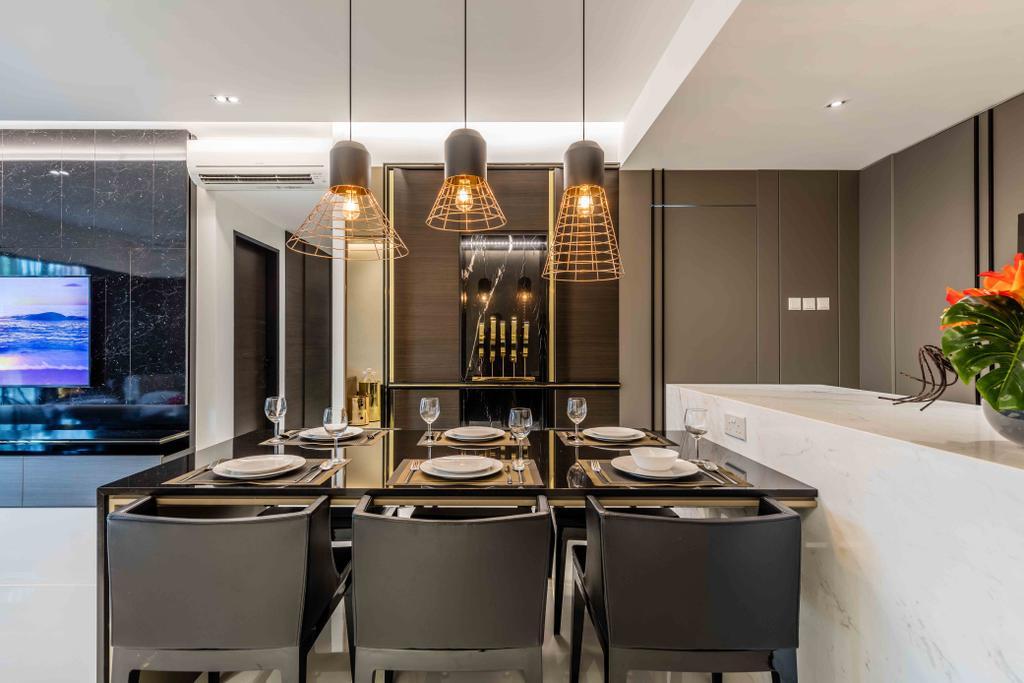Contemporary, Condo, Dining Room, The Florida, Interior Designer, Ciseern