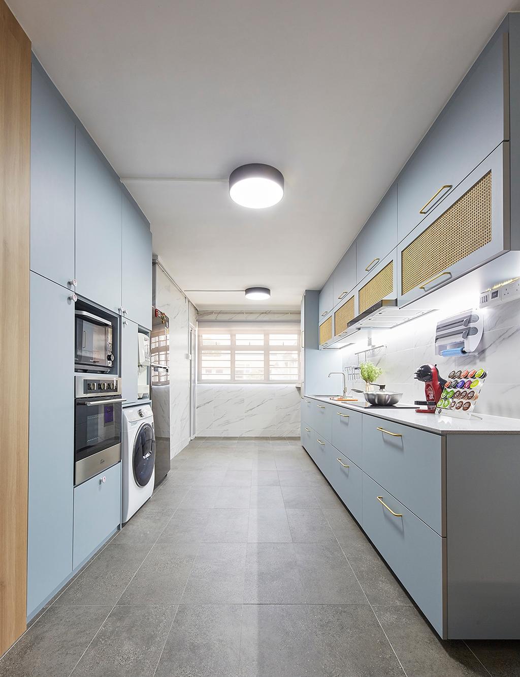 Contemporary, HDB, Kitchen, Ubi Avenue 1, Interior Designer, The Interior Lab, Scandinavian