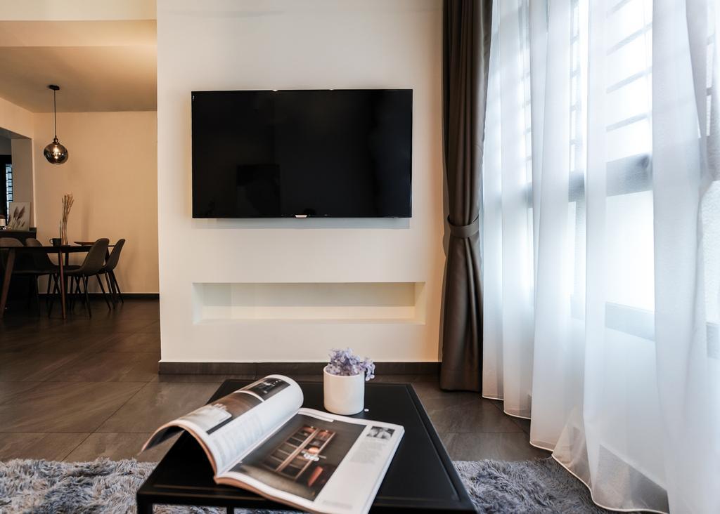 Contemporary, HDB, Living Room, Buangkok Crescent, Interior Designer, Couple Abode