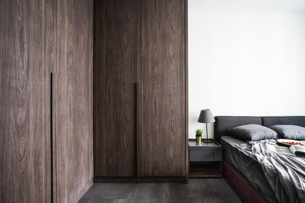 Contemporary, HDB, Bedroom, Buangkok Crescent, Interior Designer, Couple Abode