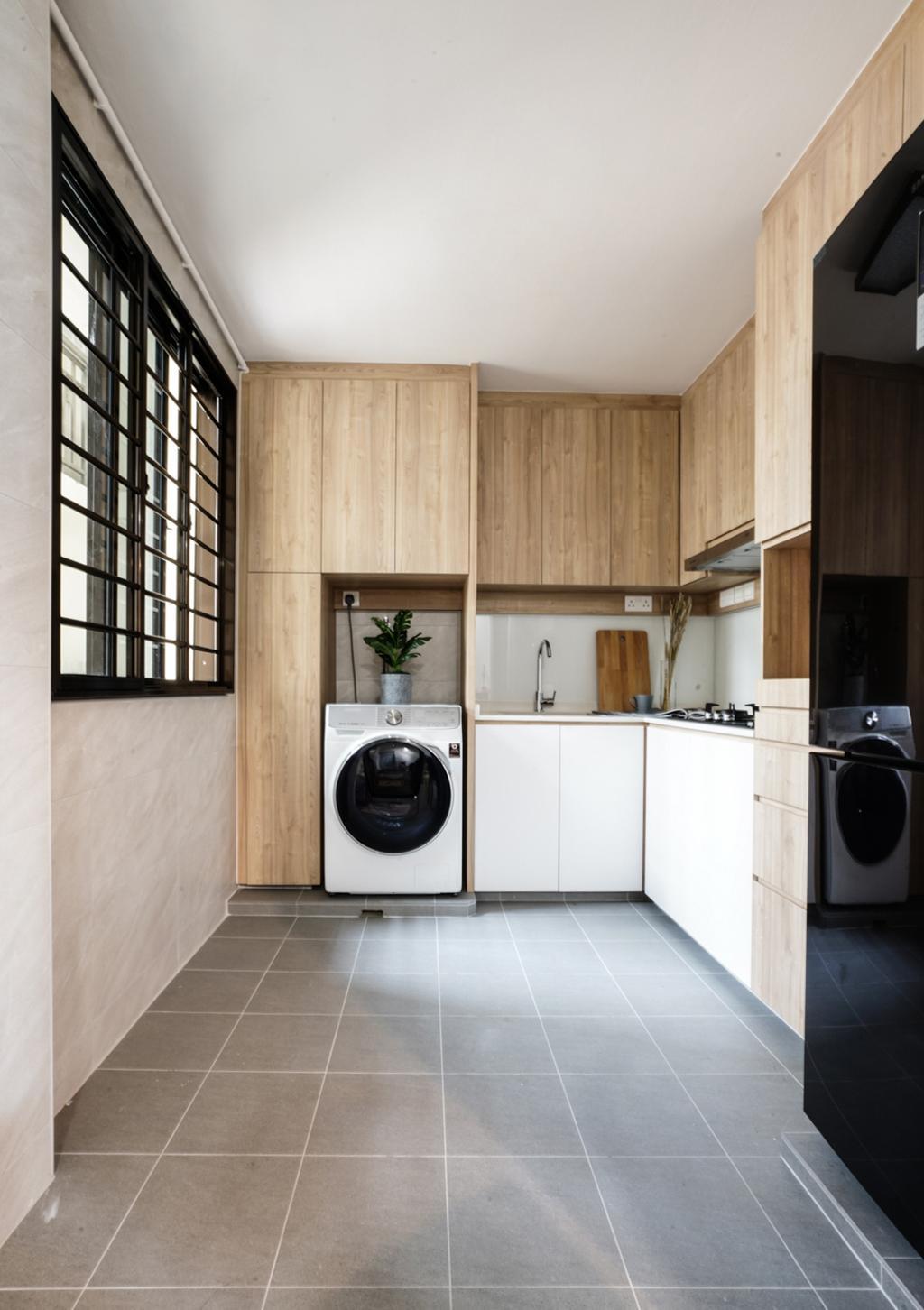 Scandinavian, HDB, Kitchen, Sembawang Close, Interior Designer, Couple Abode