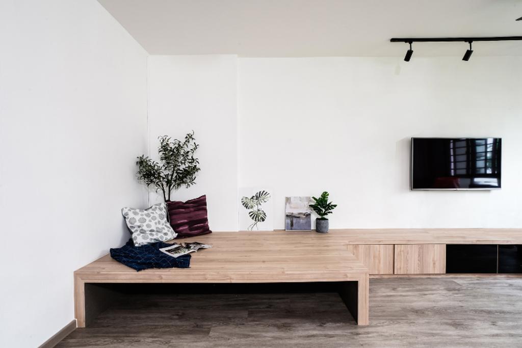 Scandinavian, HDB, Living Room, Sembawang Close, Interior Designer, Couple Abode