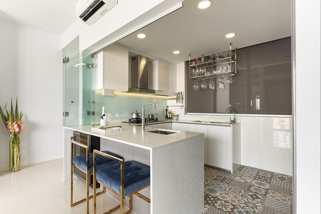 Modern, Condo, Kitchen, Riveredge, Interior Designer, Ciseern
