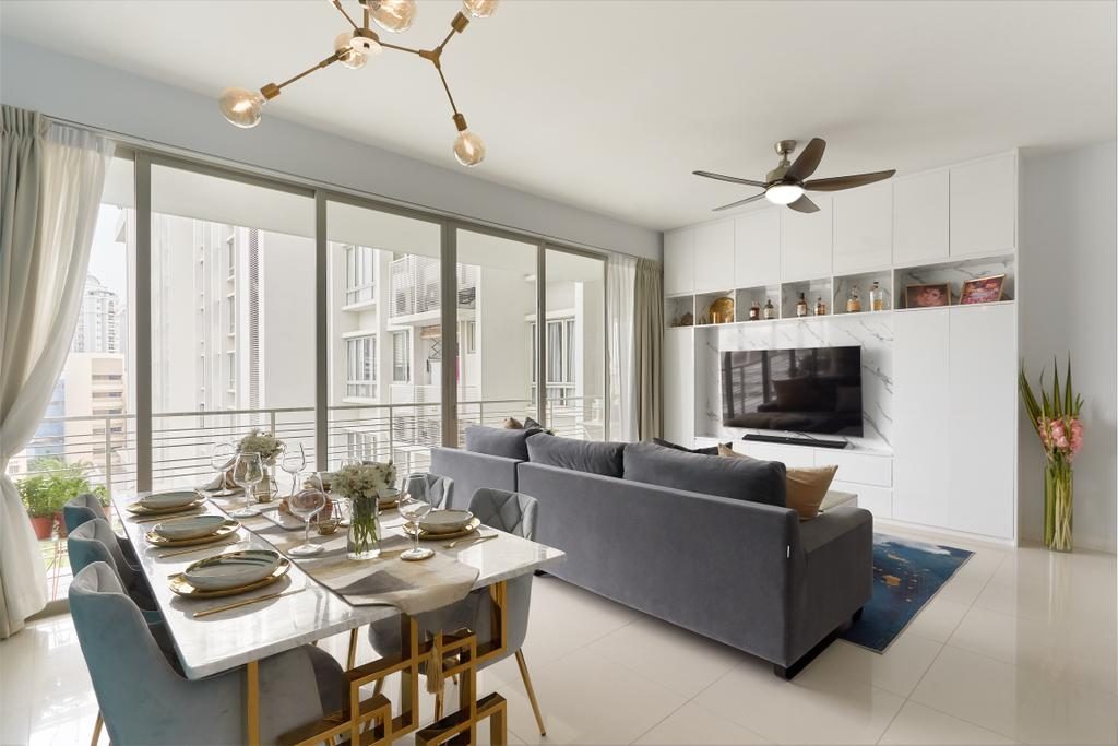 Modern, Condo, Dining Room, Riveredge, Interior Designer, Ciseern