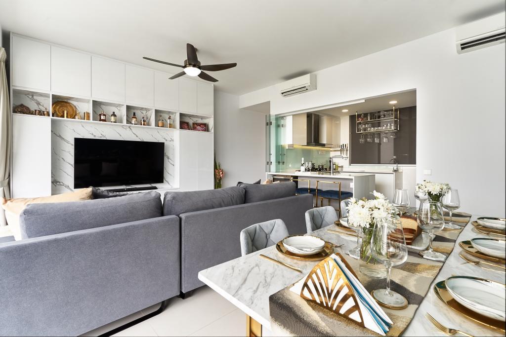 Modern, Condo, Living Room, Riveredge, Interior Designer, Ciseern
