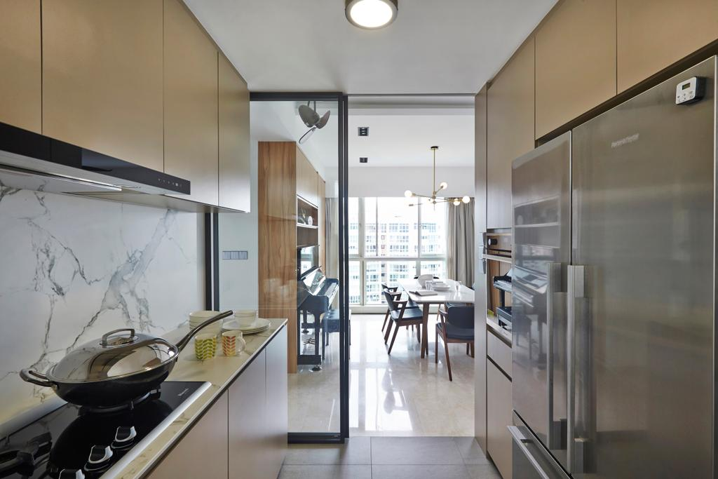 Modern, Condo, Kitchen, Goldenhill, Interior Designer, Fuse Concept, Eclectic