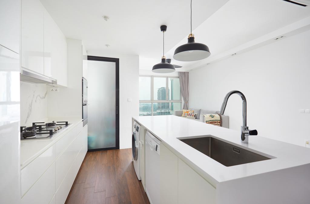 Minimalist, Condo, Kitchen, City Lights, Interior Designer, Design 4 Space