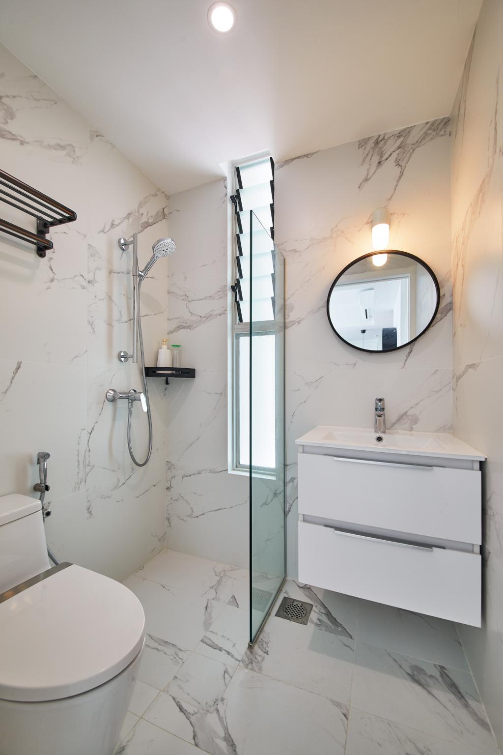 Minimalist, Condo, Bathroom, City Lights, Interior Designer, Design 4 Space